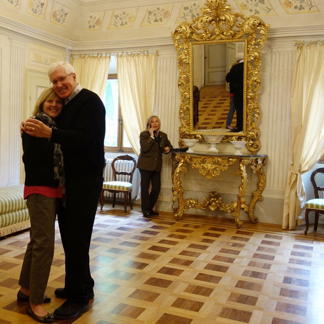 In the ballroom of Villa La Collina in Tredozio, Italy --- a lovely ending to our visit to these regions of Italy -- Piedmont, Lombardy, Veneto, and Emilia-Romagna