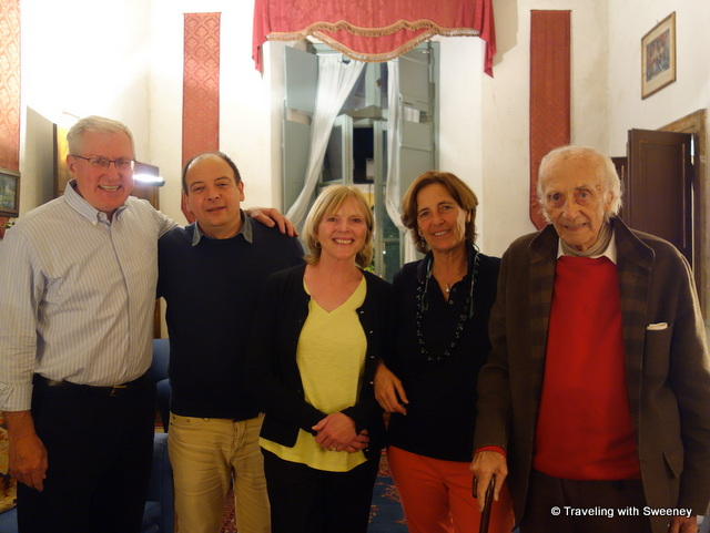 Mr. TWS and I with our Mantua hosts Guido, Luisa, and Baldesar Castiglioni at Palazzo Castiglioni in Mantua, Italy
