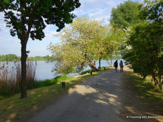 Strolling along of the lakeside paths in Mantua