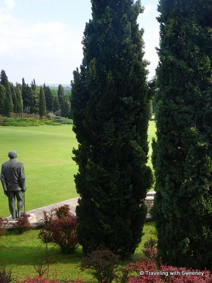 Statue of Dr. Carlo Sigurta at Parco Giardino Sigurta