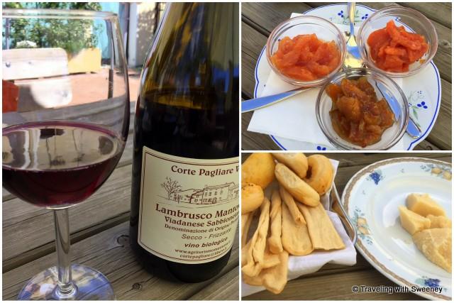 Lambrusco Mantovano, Mantua mustards, regional breads and Grana Padano cheese