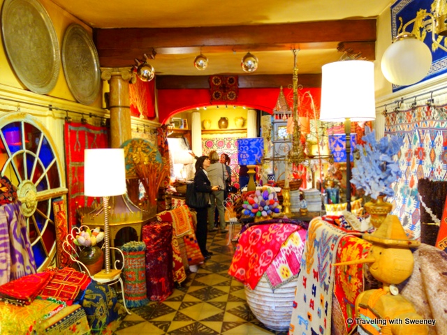 Colorful and eclectic art and objects at Asolo Kilim Gallery