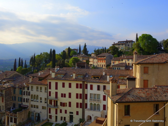 One of Asolo's stunning views from the panoramic vista point of Queen Cornaro's Castle