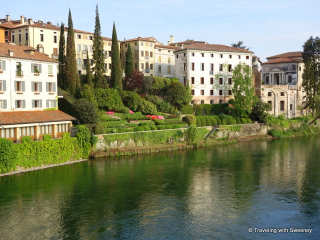 Pretty scene along the River Brenta in Bassano del Grappa, Italy -- Veneto highlights