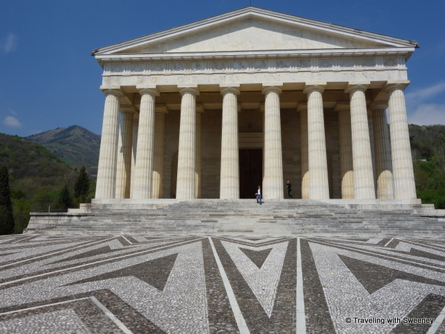 Temple of Canova in Possagno -- a great side trip from Asolo, Italy