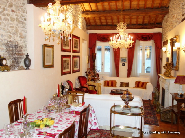 Elena 3 apartment in Asolo dining and living area --- our EsteVillas accommodations in Asolo, Italy