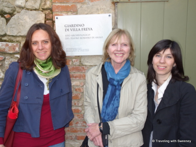 With Laura Serafin (left) and Francesca Zuccolotto at Villa Freya