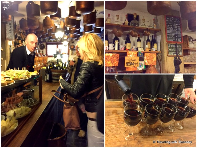 Hanging out with the locals at Cantina do Mori, one of Venice's oldest bars