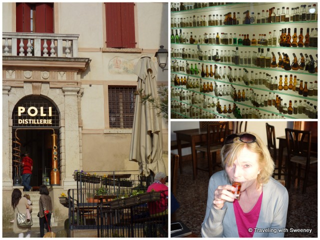 Museo Poli Grappa Museum entrance and collection; having a taste of grappa at the Nardini Distillery
