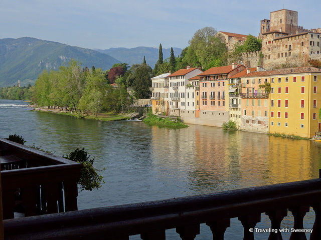 Bassano del Grappa -- view from Ponte Vecchio