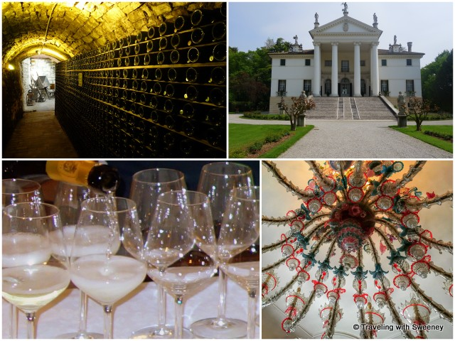 Tunnels, Murano chandeliers, and Prosecco tasting at Villa Sandi in the Veneto region of Italy