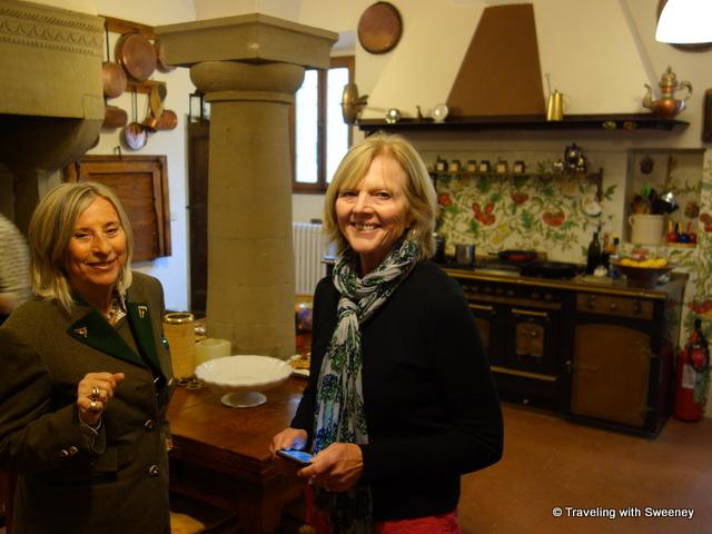 In the kitchen of Villa La Collina with the countess