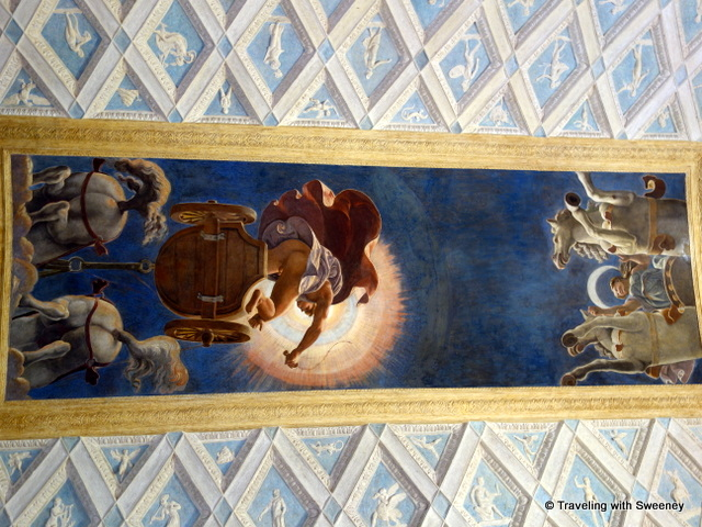 Looking up in the Chamber of the Sun and the Moon at Palazzo Te