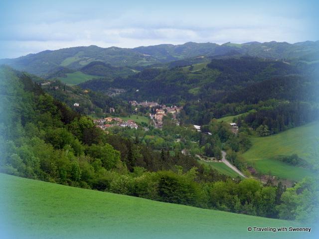 A dreamy Tredozio seen from Villa La Colllina