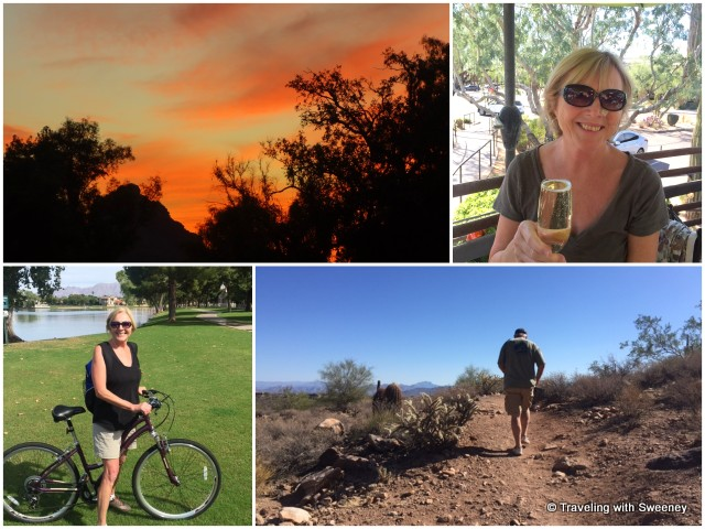 Scottsdale sunset, brunch al fresco, hiking and biking
