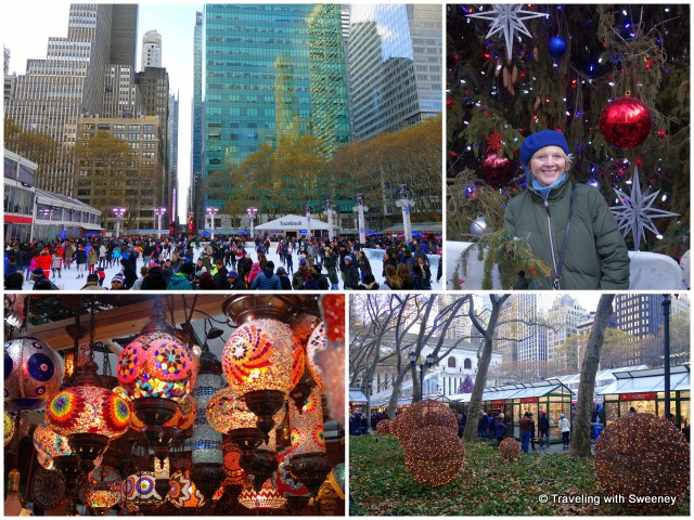 Winter fun at the Bryant Park ice rink and Christmas market -- Christmas in New York City