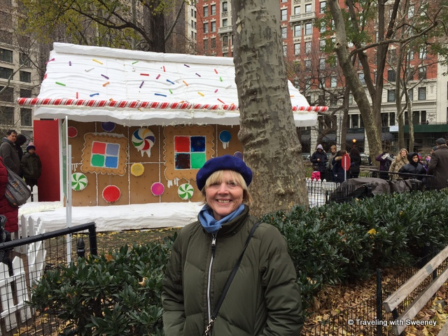 Gingerbread House in Madison Square Park -- New York City at Christmas