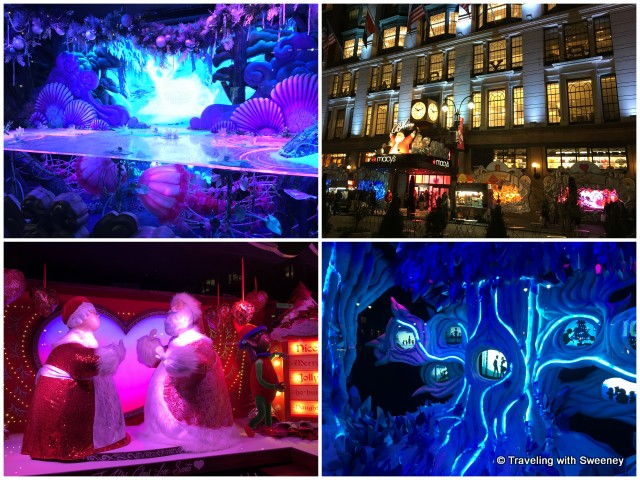 Beautiful window displays of Macy's