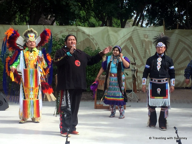 Expressions of cultural unity in song and dance at Native Trails in Scottsdale, Arizona