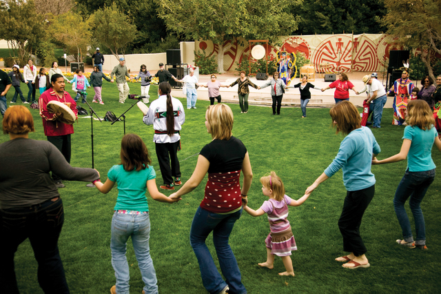 Native Trails Festival Round Dance -- Photo courtesy Scottsdale Convention & Visitors Bureau