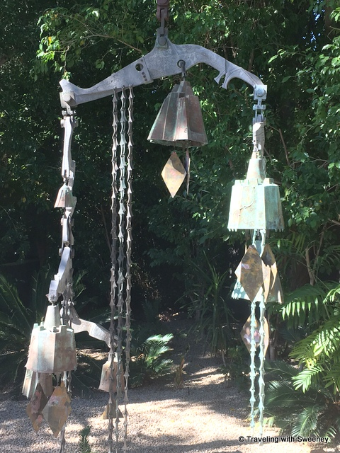 Bell sculpture by Paolo Soleri at Sanctuary on Camelback Resort and Spa entrance