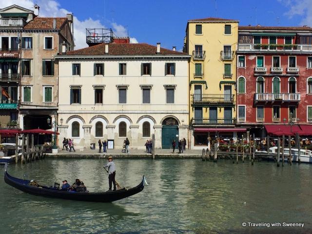 Classic Venetian scene -- a gondola on the Grand Canal