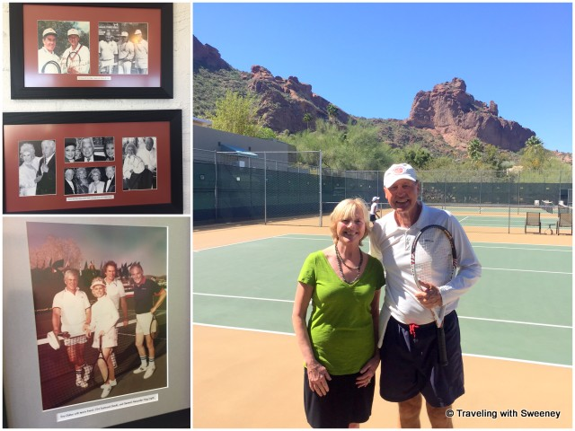 Photographs of celebrity guests; tennis pro Horst Falger at Sanctuary on Camelback Resort and Spa