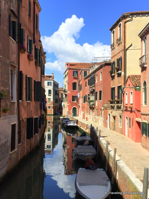 Quiet canal scene off the tourist track in Venice