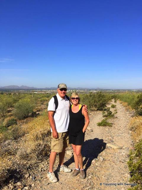 With Ms. TWS on the Levee Trail in the Sonoran Desert of Scottsdale, Arizona