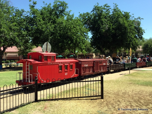 Fun ride on the Paradise and Pacific Railroad at McCormick Stillman Railroad Park in Scottsdale
