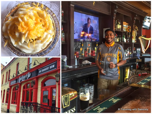 Service with a smile at Red Lion Pub in Milwaukee. Specialty -- Shepherd's Pie